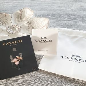 NWT | Coach Cherry Rosegold Ring - Size 8